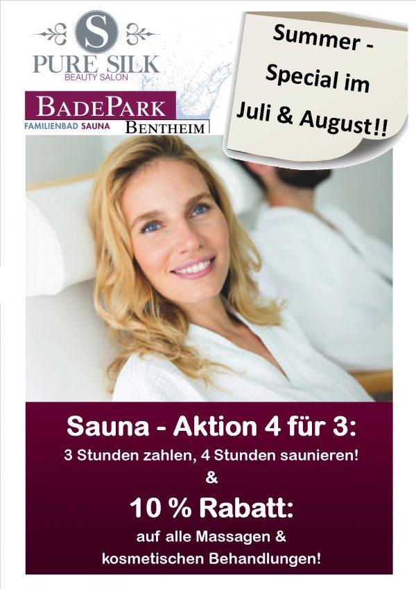 Sauna - Sommerspecial