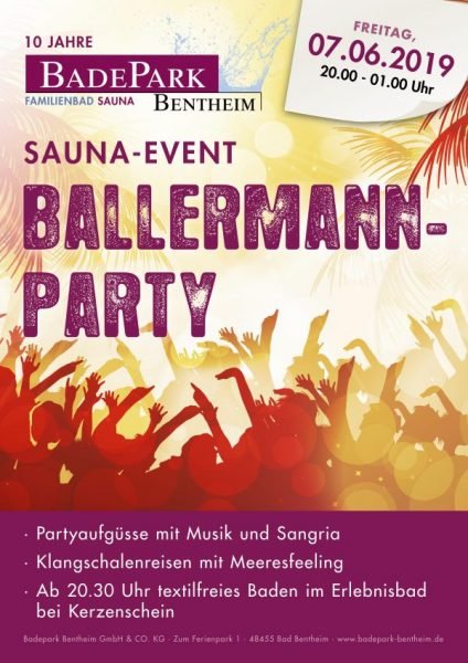 Sauna-Event Ballermann-Party