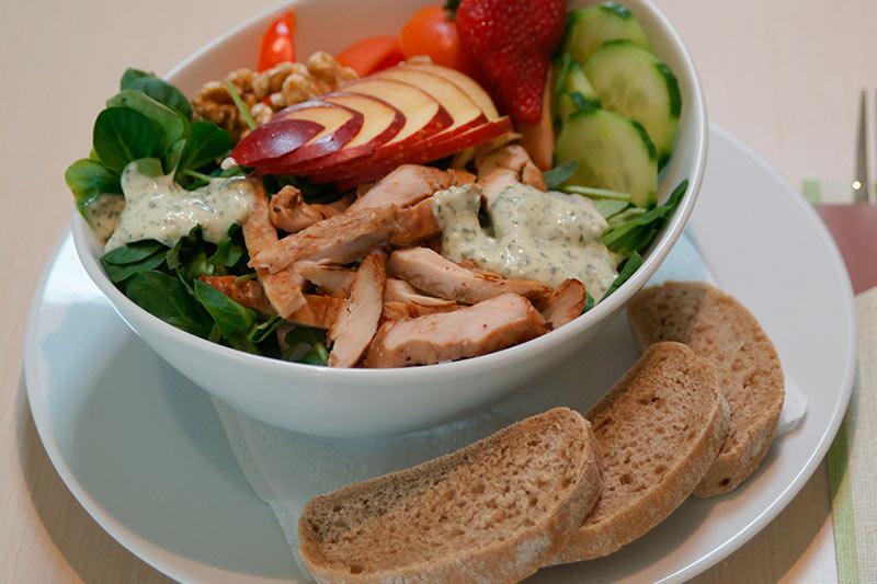 Gastronomie Badepark Bentheim Salat